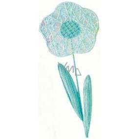 Kvetina veľká modrá prepletaná 49 cm