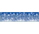Okenní fólie bez lepidla pruh zamrzlý s duhovými glitry vločky 64 x 15 cm