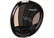 Deborah Perfect Smokey Eye Palette paletka 5ti očních stínů 03 Black Smokey 5 g