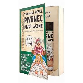 Bohemia Gifts & Cosmetics Pivrnec Kniha s extrakty z pivních kvasnic a chmele Sprchový gel 200 ml + Vlasový šampon 200 ml