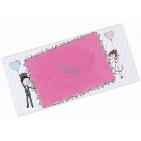 Albi Čokoláda s vreckom na peniaze Svadobné Humorná 15,4 cm × 7,3 cm × 1 cm 85 g