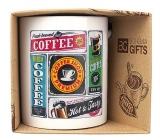Bohemia Gifts Keramický hrnček s potlačou Coffee - retro 350 ml