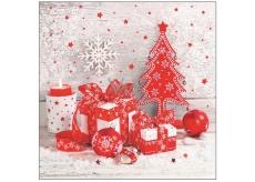 Aha Vianočné papierové obrúsky 3 vrstvové 33 x 33 cm 20 kusov