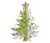 Monu Vianočný stromček Skladačka k vymaľovanie pre deti 3+ výška 67 cm