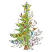 Monumi Vánoční stromeček Skládačka k vymalování pro děti 3+ výška 67 cm