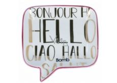 Bomb Cosmetics Hello, Ciao, Bonjour Soap Dish Keramická miska na mydlo 12,5 x 12,5 cm