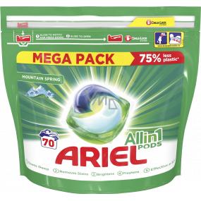 Ariel All in 1 Pods Mountain Spring gélové kapsule na pranie bielizne 70 kusov x 35 ml