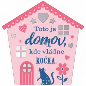 Albi Závesná plaketka domček Mačka 9 x 10 cm