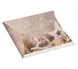 Krabička skladací darčeková Vianočný s koníkom a glitrami 33 x 25 cm