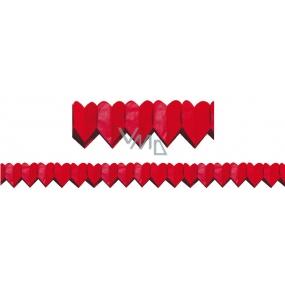 Girlanda Srdiečka červená malá 400 x 8 cm