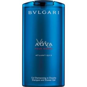 Bvlgari Aqva pour Homme Atlantiqve 2v1 sprchový gél a šampón 200 ml
