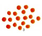 Bambuľky Oranžové 2,5 cm 18 kusov