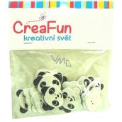 CreaFun Dřevěné knoflíky Panda 23 x 20 mm 20 kusů