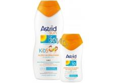 Astrid Sun Kids OF30 mlieko na opaľovanie 200 ml + Sun OF10 Hydratačné mlieko na opaľovanie 100 ml, duopack