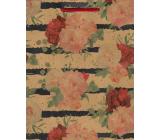 Nekupto Darčeková papierová taška 24,5 x 19 x 8 cm Kvety 569 KHM