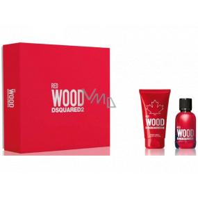Dsquared2 Red Wood toaletná voda pre ženy 30 ml + telové mlieko 50 ml, darčeková sada