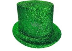 Cylinder karnevalový 25 cm zelený