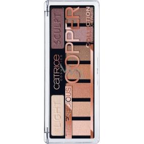 Catrice The Precious Copper Eyeshadow Palette paleta očných tieňov 010 Metallux 10 g