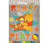 Ditipo Disney Dárková papírová taška pro děti L Medvíde Pú, Ready To Play 26,4 x 12 x 32,4 cm