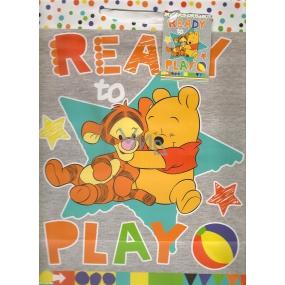 Ditipo Darčeková papierová taška 26,4 x 12 x 32,4 cm Disney Macko Puf, Ready To Play