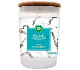 Air Wick Essential Oils Sea Salt & Driftwood - Morská soľ a naplavené drevo vonná sviečka sklo 185 g