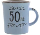 Albi Plecháček keramický hrnček s nápisom 50 rokov 320 ml