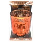 Albi Třpytivý svícen ze skla na čajovou svíčku VERONIKA, 7 cm