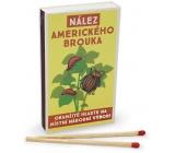 Nekupto Originálne zápalky v retro štýle Nález amerického chrobáka okamžite hláste na miestny národný výbor! 45 kusov