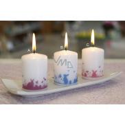 Lima Zajačikovia v tráve modrří sviečka biela valec 50 x 70 mm 1 kus