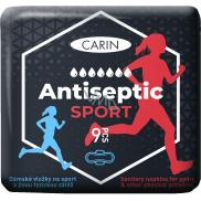 Carin Antiseptic Šport ultratenké hygienické vložky s krídelkami pre šport 9 kusov