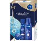 Nivea Protect & Care Body Milk telové mlieko 250 ml + antiperspirant sprej 150 ml + krém 30 ml, kozmetická sada