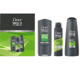 Dove Men + Care Extra Fresh sprchový gel 250 ml + antiperspirant dezodorant sprej 150 ml + 2v1 šampón na vlasy 250 ml, kozmetická sada