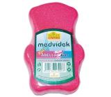 Abella Medvedík Kids kúpeľová huba pre deti rôzne farby 12 cm 1 kus