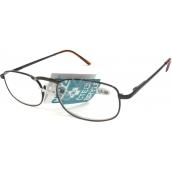 Berkeley Čítacie dioptrické okuliare +1,0 hnedé kov CB02 1 kus MC2005