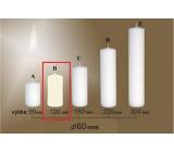Lima Gastro hladká svíčka krémová válec 60 x 120 mm 1 kus