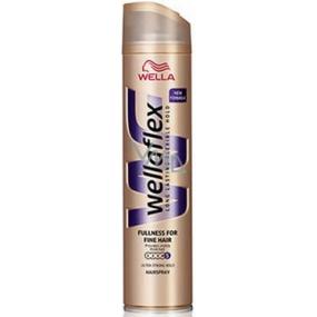 Wellaflex Fullness ultra silné zpevnění lak na vlasy pro jemné vlasy 250 ml