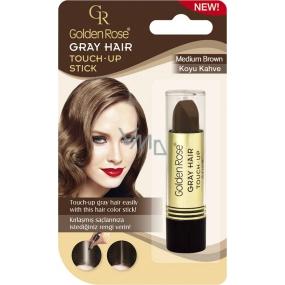 Golden Rose Gray Hair Touch-Up Stick farbiaci korektor na odrastené a šedivé vlasy 03 Medium Brown 5,2 g
