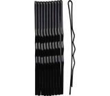 Duko Vlasové spony čierna 7 cm 10 kusov 527B