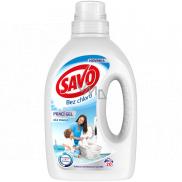 Savo White bez chlóru prací gél na biele prádlo 20 dávok 1 l