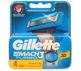 Gillette Mach 3 Turbo náhradné hlavice 4 kusov