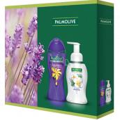 Palmolive Aroma Sensations So Relaxed sprchový gél 250 ml + Magic Softness Jasmine tekuté mydlo dávkovač 250 ml, kozmetická sada