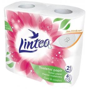 Linteo Care & Comfort toaletný papier biely 2 vrstvový, 150 útržkov a 17 m, 4 kusy