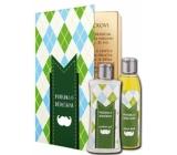 Bohemia Gifts Rozprávka o dedkovi sprchový gél 250 ml + olejový kúpeľ 200 ml (s príjemnou citrusovou vôňou). kniha kozmetická sada