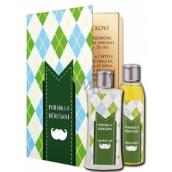 Bohemia Gifts & Cosmetics Rozprávka o dedkovi sprchový gél 250 ml + olejový kúpeľ 200 ml (s príjemnou citrusovou vôňou). kniha kozmetická sada