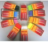 Dortové svíčky Modrá 95 x 8 mm 12 ks