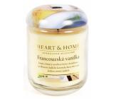 Heart & Home Francúzska vanilka Sójová vonná sviečka strednej horí až 30 hodín 110 g