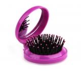 Donegal Kefa na vlasy skladací so zrkadlom POP-UP, 6,5 cm x 7,5 cm