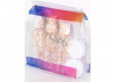Albi Original Cestovná sada fľaštičiek 3 x 80 ml + 2 nádobky + Mandala puzdro - 15 cm x 15 cm x 4,5 cm