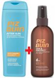 Piz Buin Tan & Protect SPF6 ochranný olej urýchľujúci proces opaľovanie 150 ml sprej + After Sun Tan Intensifying hydratačné mlieko po opaľovaní, zdôrazňuje opálenie 200 ml, duopack