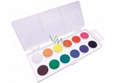 Koh-i-Noor Školské vodové farby, biely podklad 22,5 mm 12 farieb